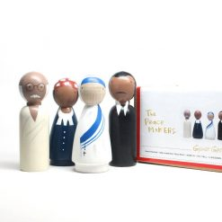 Historical Peace Makers Set of Four Peg Doll Set by Goose Grease