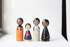 The Trailblazers II Historical Women Organic Handmade Wooden Figurines Peg Dolls by Goose Grease