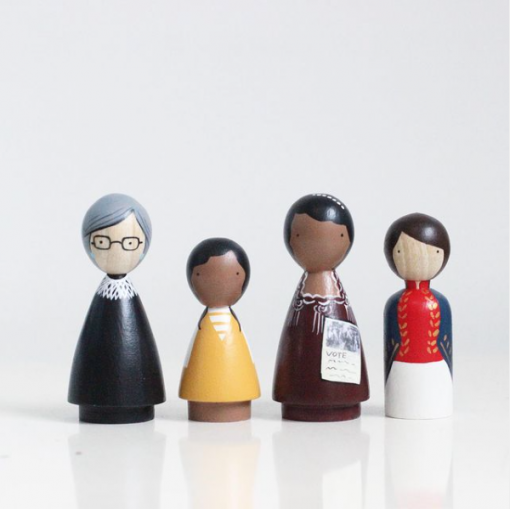 Organic Trailblazers III Handmade Wooden Figurines Peg Dolls by Goose Grease