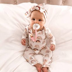 Sweetie Soother Pacifier Set by Itzy Ritzy White and Mint Colors Cable Pattern