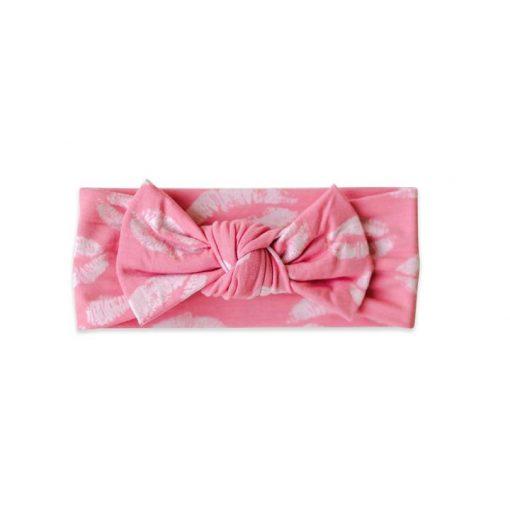 Pink Kisses Bow Headband