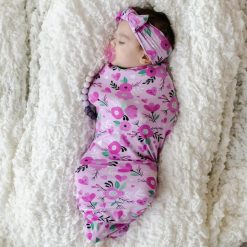 Sweetheart Floral Swaddle & Headband Set
