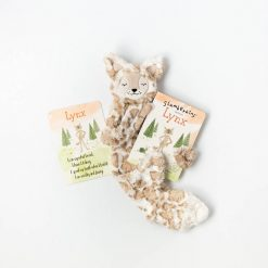 Lynx Snuggler Lovey and Book Bundle