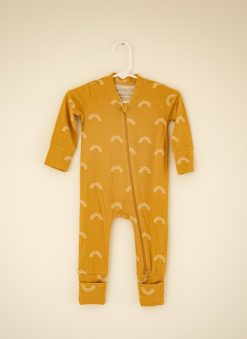 Willow+Co Yellow Sun Romper Footie