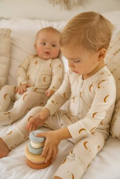 Organic Bamboo Baby Footie Antimicrobial and Sustainable in Sun