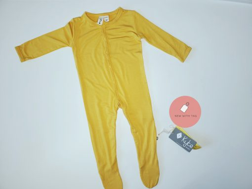 Mustard Snap Footie from Kyte BABY