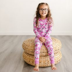 Little Sleepies Sweetheart Floral Two-Piece Bamboo Viscose Toddler Pajama Set