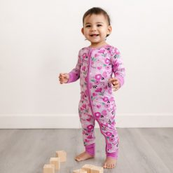 Little Sleepies Sweetheart Floral Bamboo Viscose Zippy Romper Footie Pajamas
