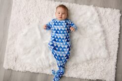 Little Sleepies Horizon Triangles Bamboo Viscose Infant Knotted Gown