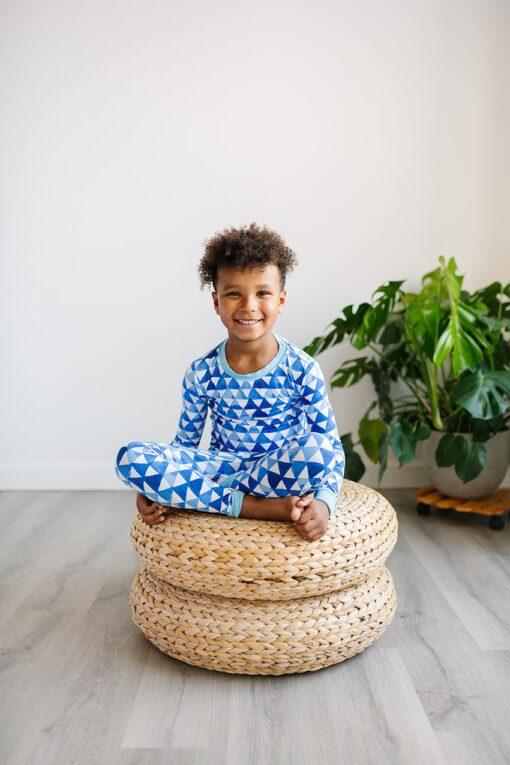 Little Sleepies Horizon Triangles Bamboo Viscose Pajama Set