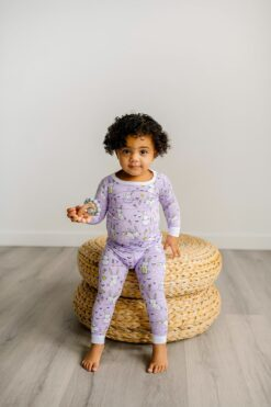 Little Sleepies Lavender Bunnies Bamboo Viscose Two-Piece Pajama Set