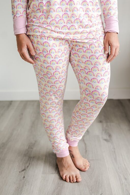 Little Sleepies Pastel Rainbow Women's Matching Pajama Pants