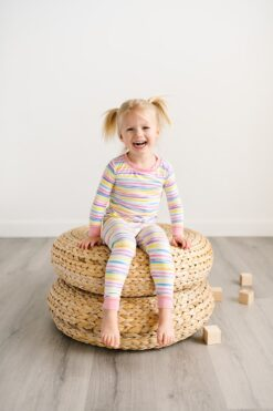 Little Sleepies Sunrise Stripe Bamboo Viscose Pajama Set
