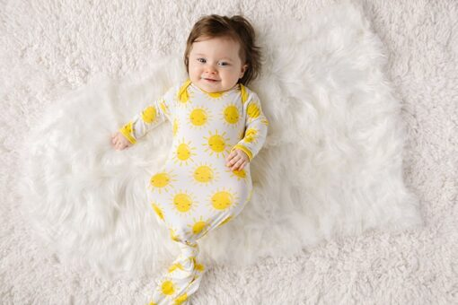 Little Sleepies Sunshine Infant Knotted Gown in Bamboo Viscose