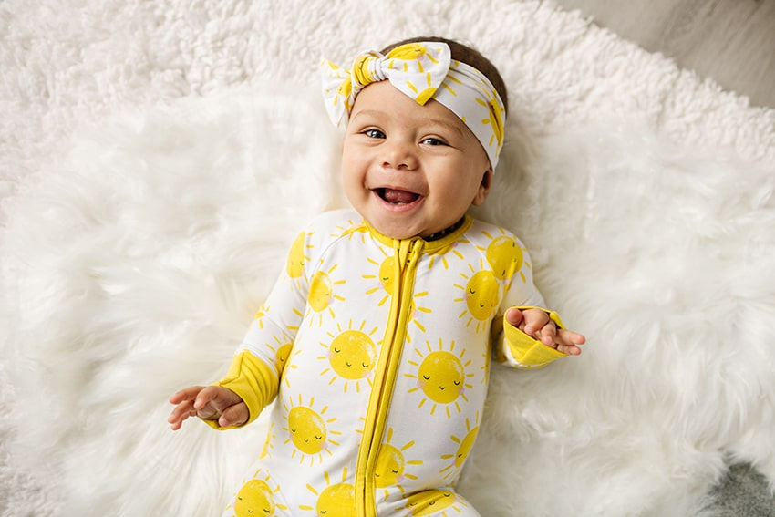 Little Sleepies Sunshine Bamboo Viscose Infant Knotted Gown