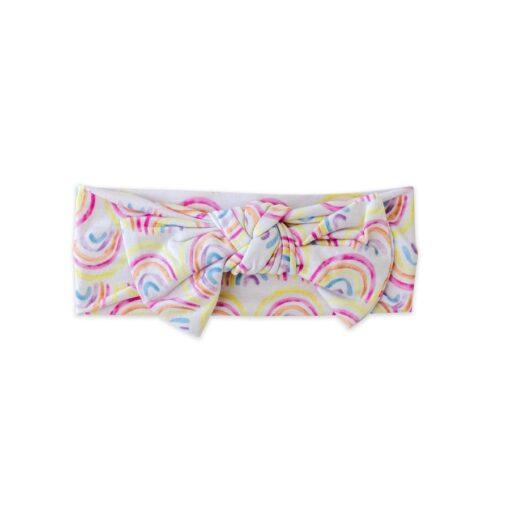 Little Sleepies Pastel Rainbows Bow Headband for Babies