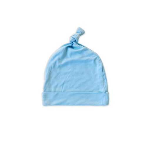 Little Sleepies Bamboo Sky Blue Baby Knotted Beanie Hat