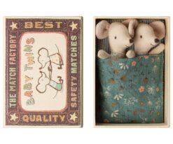 Maileg Baby Mice Twins in Matchbox