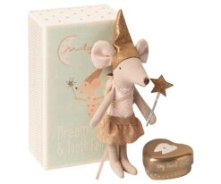 Maileg Tooth Fairy Big Sister Mouse with Metal Box