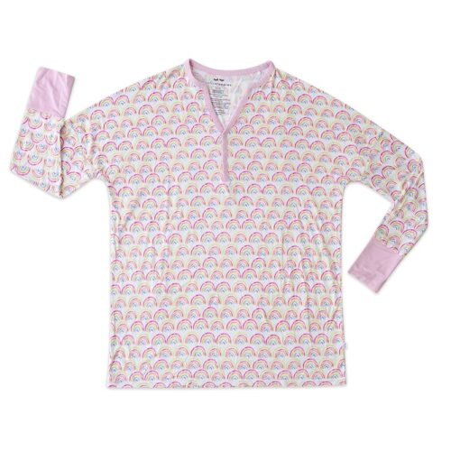 Pastel Rainbow Bamboo Viscose Pajama Top from Little Sleepies for Women