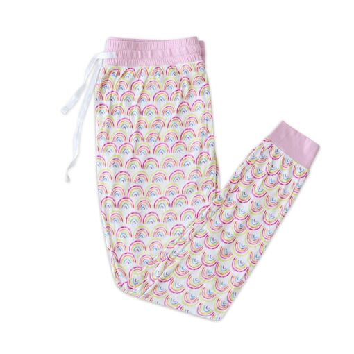 Pastel Rainbow Bamboo Pajama Pants from Little Sleepies
