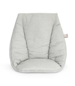 Tripp Trapp Baby Cushion in Nordic Grey made from organic cotton and dyed with extracts from acorns