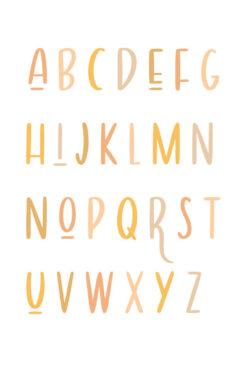 Blossom Bright Alphabet Nursery Art Print