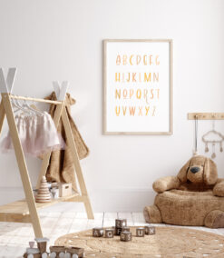 Bright Alphabet Art Print for Nurseries and Kid's Rooms