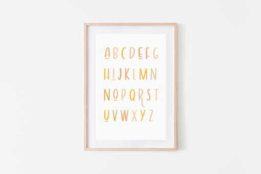 Gender Neutral Alphabet Print Available Exclusively at Blossom