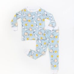 Breakfast Toddler Pajamas in Blue  by Little Sleepies
