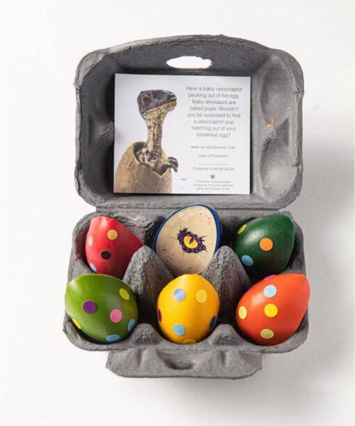 eco-kids Dinosaur Eggs Beeswax Crayons