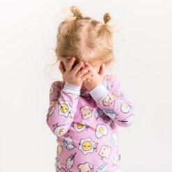 Little Sleepies Pink Breakfast Buddies Bamboo Viscose Pajama Set