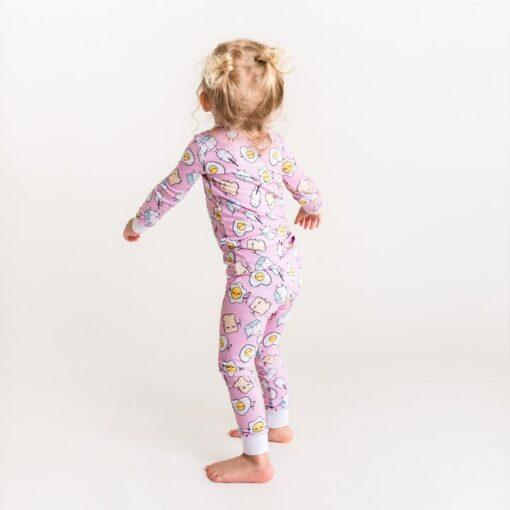 Little Sleepies Toddler Pajamas in Pink Breakfast Buddies