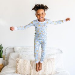 Little Sleepies Blue Breakfast Buddies Bamboo Viscose Pajama Set