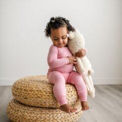 Little Sleepies Toddler Pajamas in Bubblegum Pink