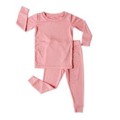 Little Sleepies Toddler Pajama Set Spring 2021 Solid Bubblegum Pink