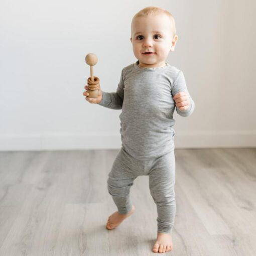 Little Sleepies Heather Gray Bamboo Viscose toddler Pajama Set