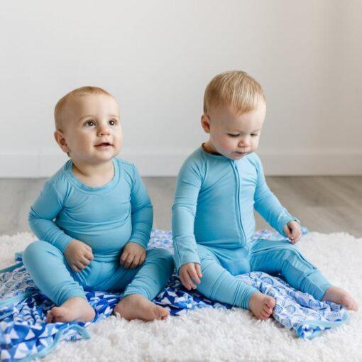 Little Sleepies Toddler Pajamas in Sky Blue