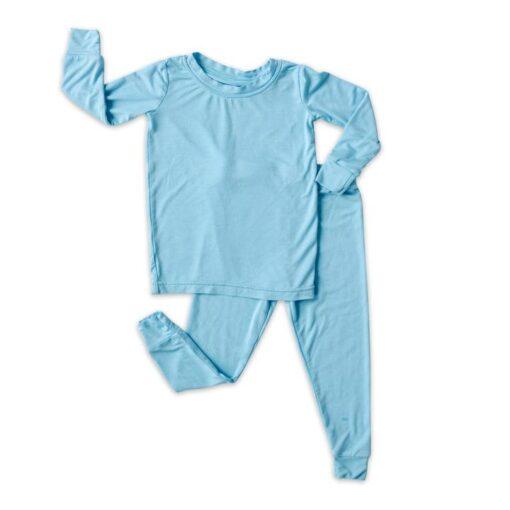 Little Sleepies Toddler Pajama Set Spring 2021 Solid Sky Blue