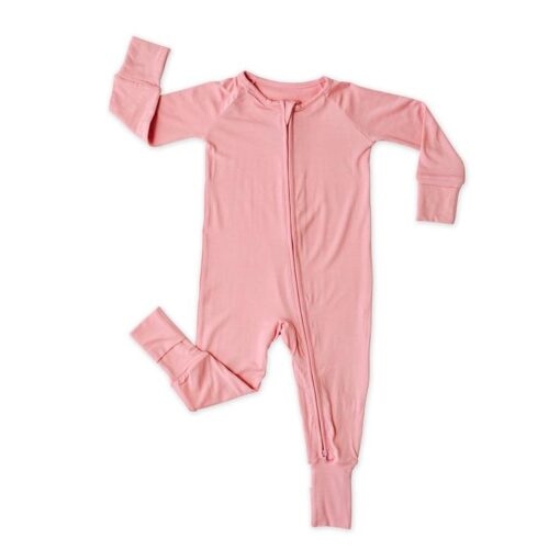 Little Sleepies Foldable Foot Cuff Pajamas in Bubblegum Pink Baby and Toddler Pajama Romper Footie