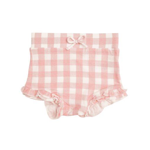 Angel Dear Gingham High Waist Shorts in Pink