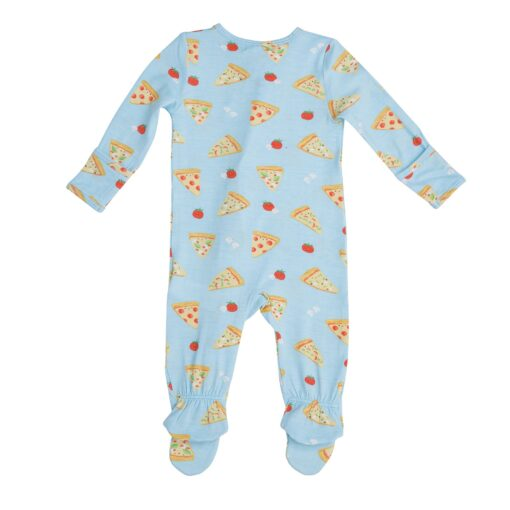 Pizza Patterned Zip Footie Pajama for Babies