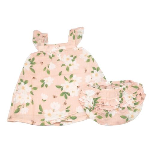 Floral Baby Dress and Bloomers in Pink by Angel Dear