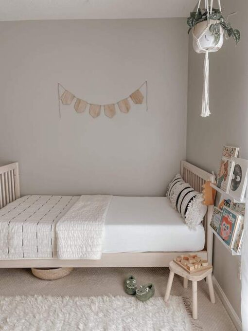 Organic Bamboo Baby Crib Sheet by Kyte Baby in Neutral Cloud