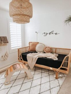 Organic Bamboo Baby Crib Sheet by Kyte Baby in Midnight Black