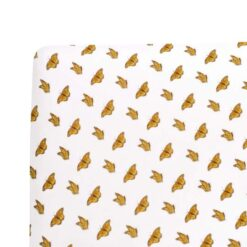 Baby Crib Sheet in Yellow Monarch Pattern by Kyte Baby