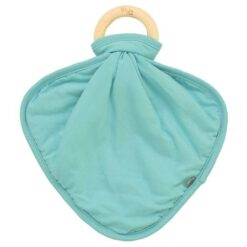 Kyte Baby Jade Fabric Lovey with Wooden Teether Ring