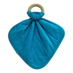Kyte Baby Lagoon Fabric Lovey with Wooden Teether Ring