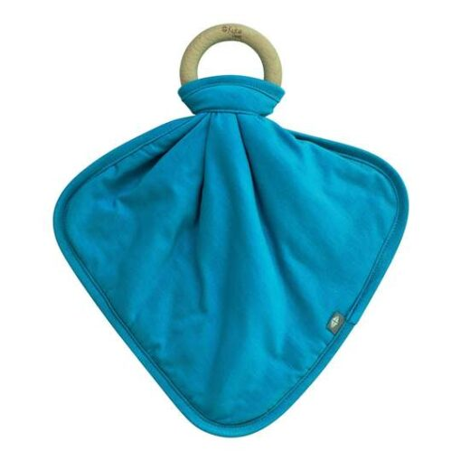 Kyte Baby Lovey in Lagoon with Removable Wooden Teething Ring