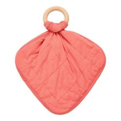 Kyte Baby Lovey in Melon with Removable Wooden Teething Ring